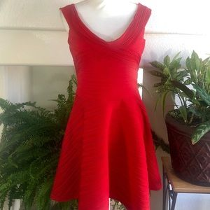 ASOS Red A-Line Dress, Size 12